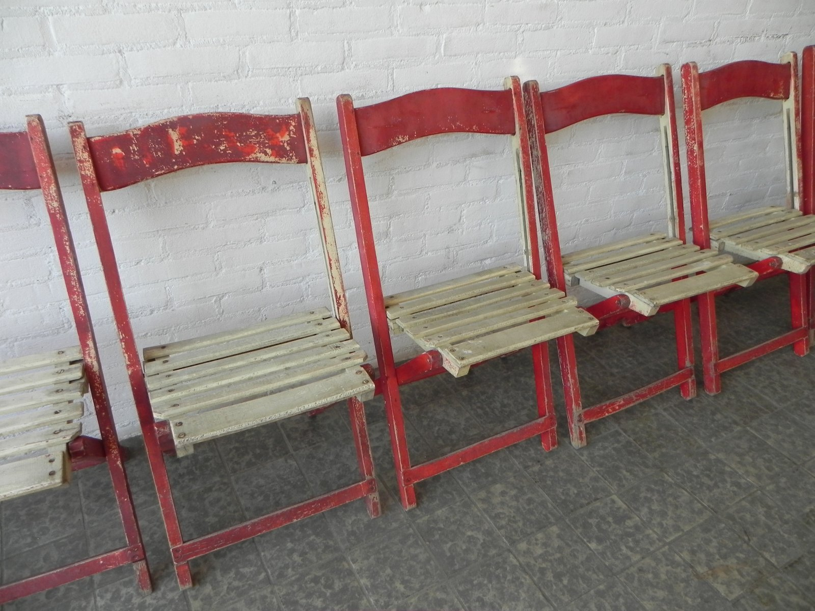wooden folding chairs for sale chair cover rentals richmond va 1940s set of 6 at pamono