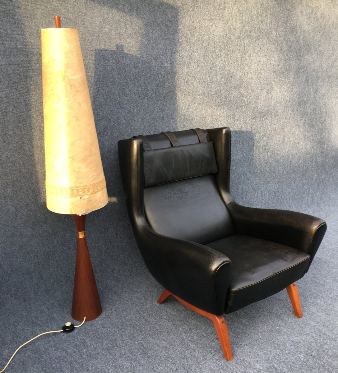 Black Leather Lounge Chair Black Leather Lounge Chair By Illum Wikkelsø For Søren
