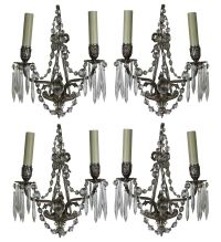 Vintage French Wall Sconces, Set of 4 for sale at Pamono