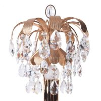 Brass & Crystal Glass Table Lamp from Palwa, 1960s for