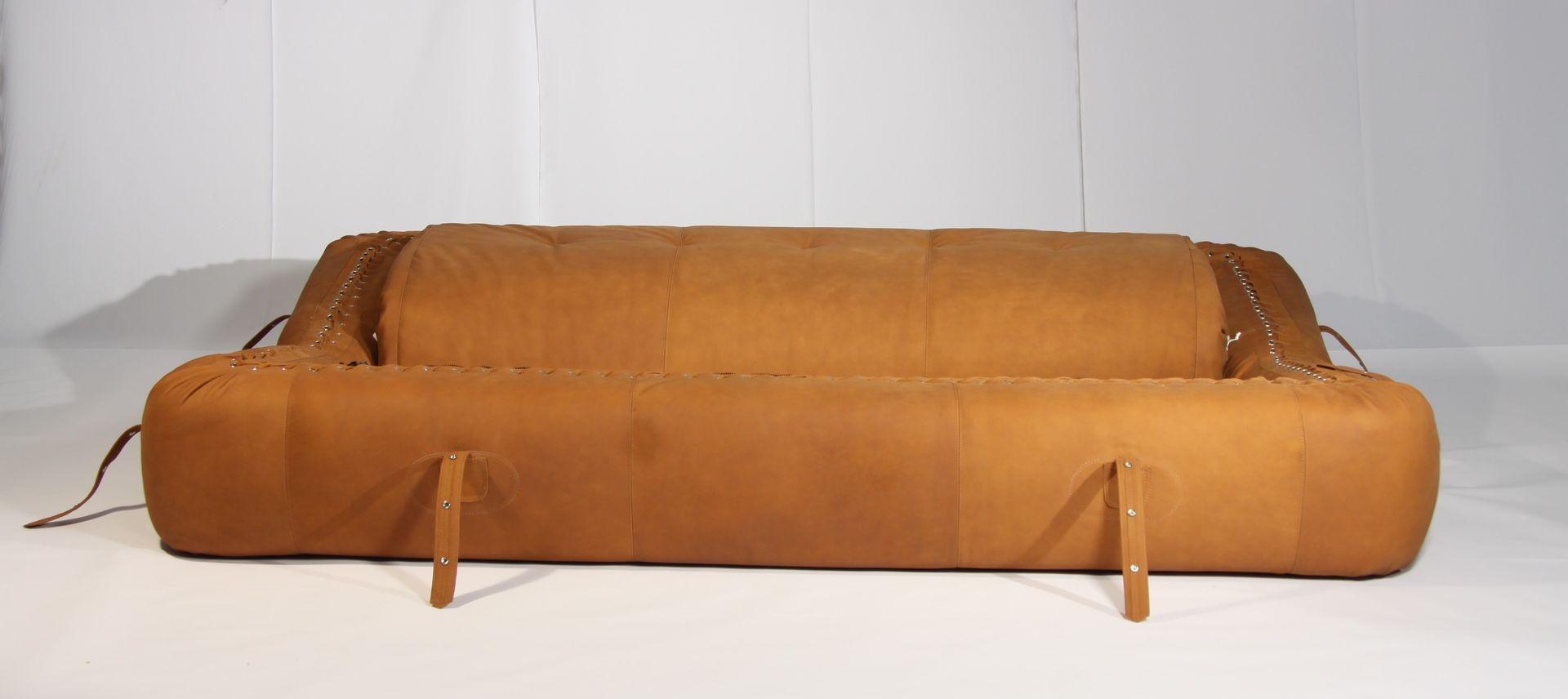 anfibio leather sofa bed black corner argos by alessandro becchi for giovannetti