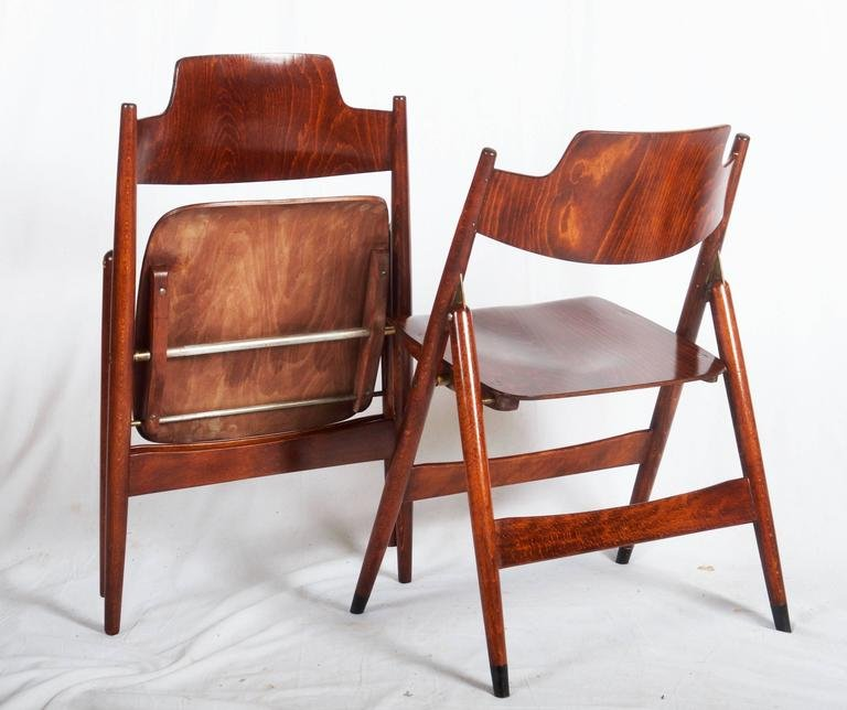 folding chair desk pink hairdressing mid century by egon eiermann for wilde spieth price per piece