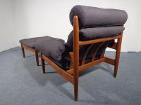 Vintage Danish Teak Chair & Ottoman for sale at Pamono