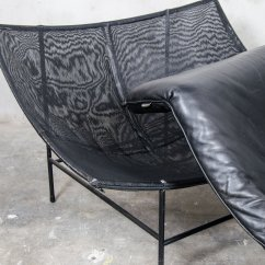 Butterfly Lounge Chair Black And White Cushions Indoor Vintage By Gerard Van Den Berg For