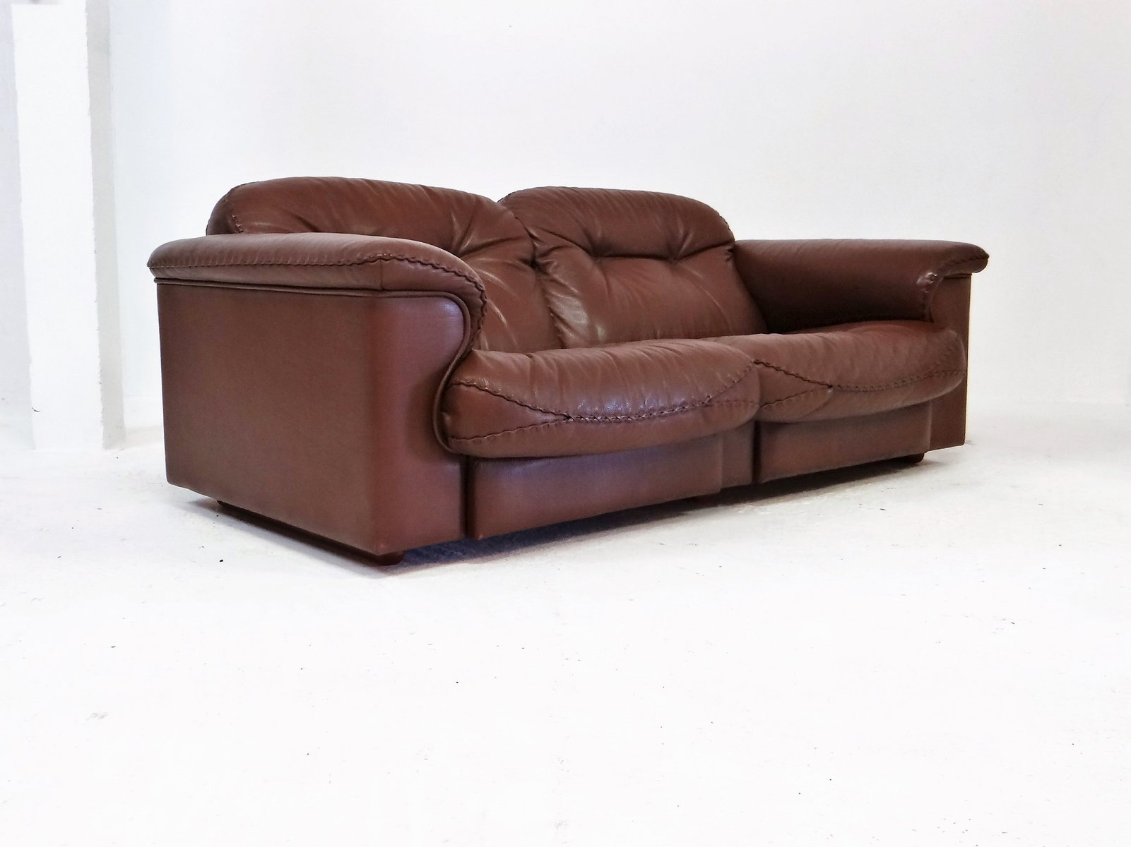 de sede sleeper sofa navy blue leather bed vintage ds 101 lounging from for sale at pamono price per piece