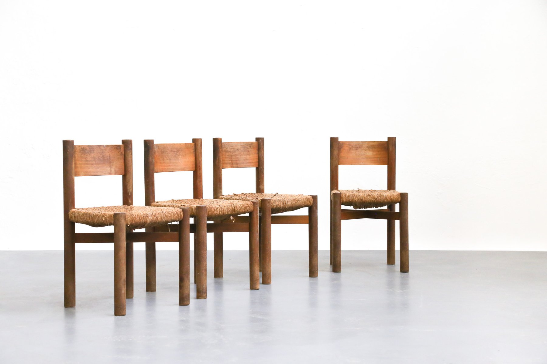 Dining Mribel Chairs by Charlotte Perriand, Set of 4 for