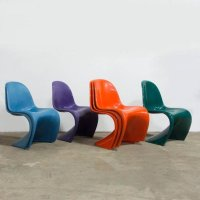 Blue Stacking Chair by Verner Panton for Herman Miller ...
