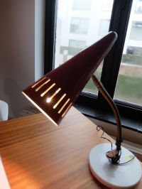 Red Vintage Table Lamp from Stilnovo for sale at Pamono