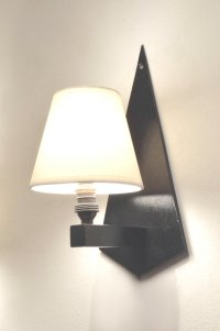 Art Deco Wall Sconces in Black Wood Sconces, Set of 2 ...