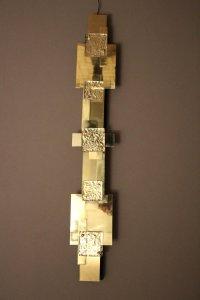 Long Vintage Polished Brass Wall Lights, Set of 2 for sale ...