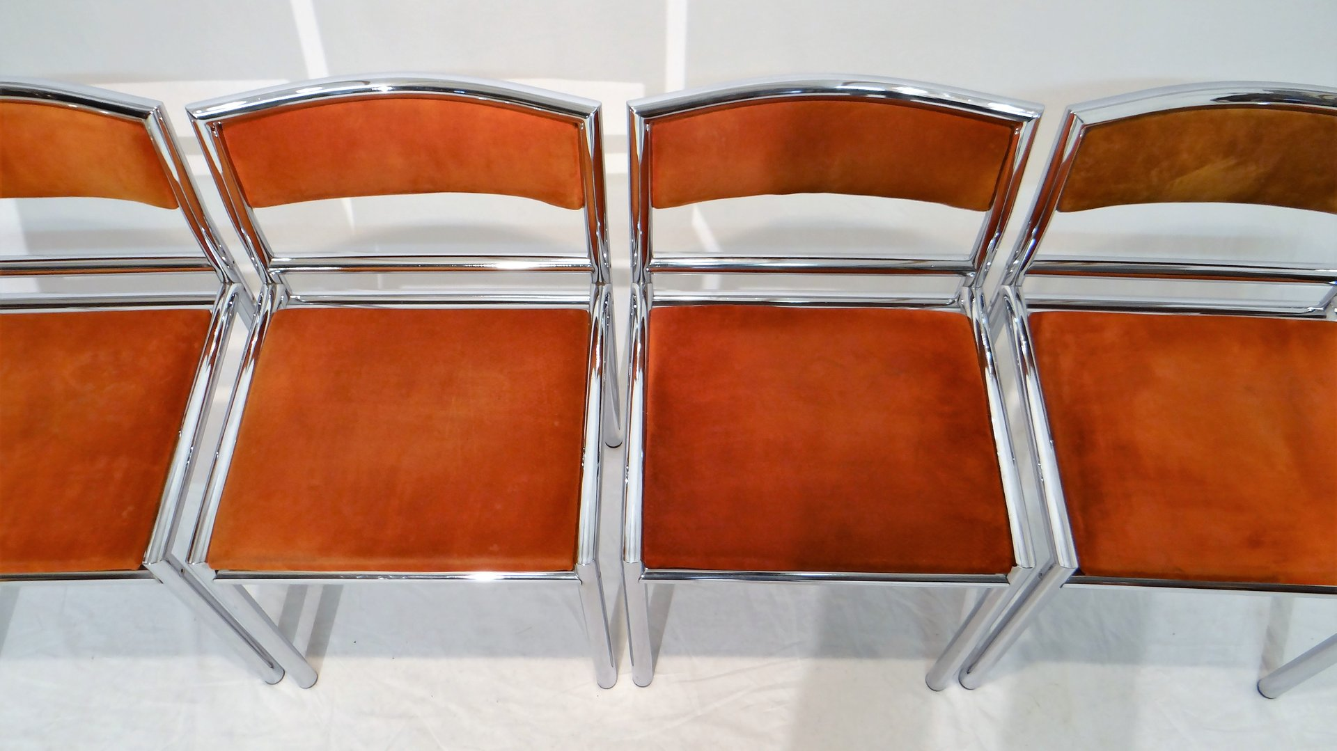 chrome dining chairs australia chair mobile stand mid century in tubular and leather