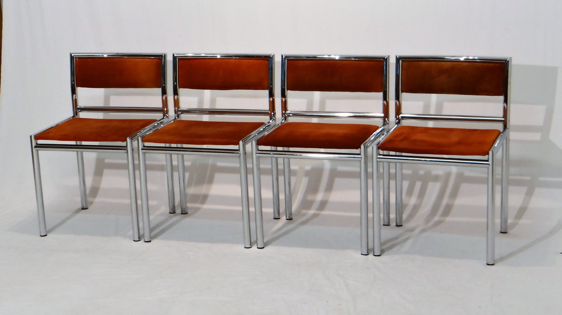 chrome dining chairs australia staples ergonomic office mid century in tubular and leather