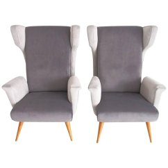 Grey Modern Armchairs Kids Camping Table And Chairs Mid Century Italian In Velvet Set Of 2 For Holiday Sale