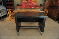 Small Industrial Metal Desk, 1950s for sale at Pamono