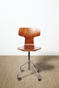 Mid-Century Danish 3103 Office Chair by Arne Jacobsen for ...