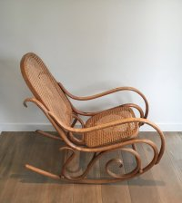 Vintage Bentwood Rocking Chair, 1970s for sale at Pamono