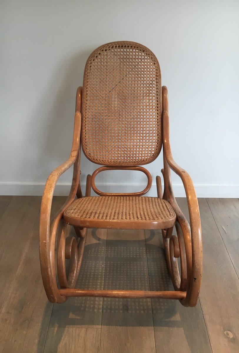 Vintage Bentwood Rocking Chair 1970s for sale at Pamono