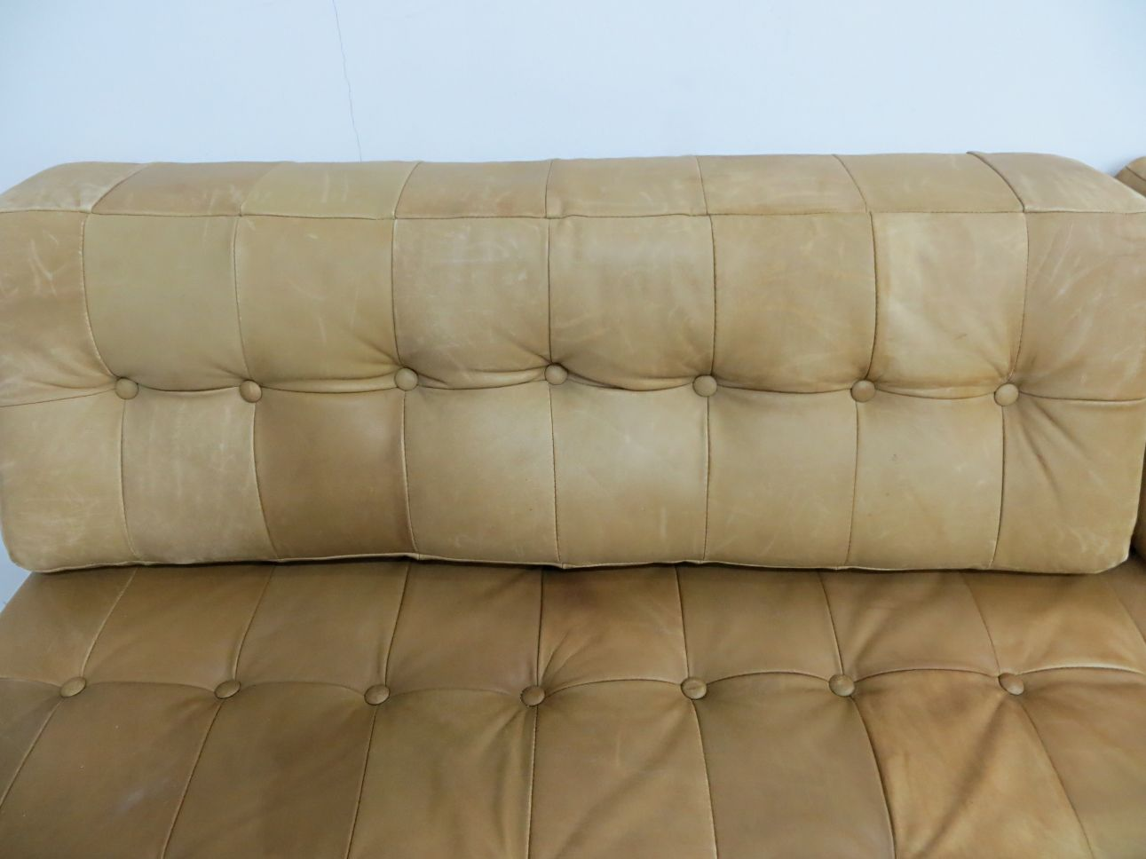 Vintage Leather Sofa Bed for sale at Pamono