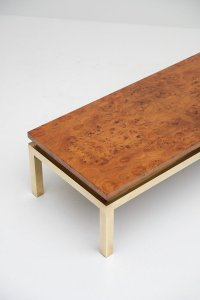 Burl Wood Coffee Table, 1970s for sale at Pamono