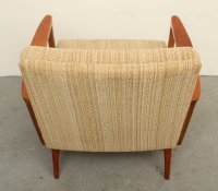 Mid-Century Solid Cherry Wood Lounge Chair, 1950s for sale ...