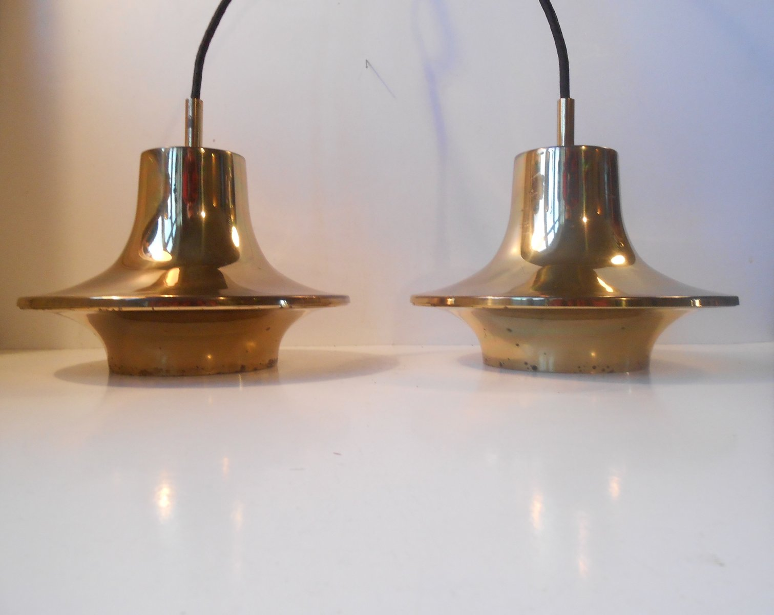 Solid Brass Pendant Lamps by Hans