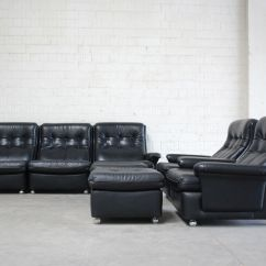 Algarve Leather Sofa And Loveseat Set Armless Sectional Living Room Suite 2 Lounge Chairs
