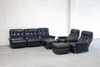 Living Room Suite Leather Sofa, 2 Lounge Chairs, and 2 ...