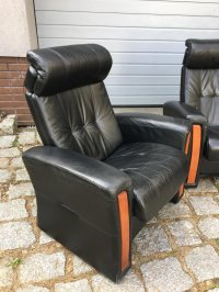 Vintage Reclining Leather Living Room Set for sale at Pamono