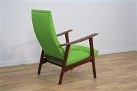 Mid-Century Danish Lounge Chair in Teak & Green Fabric ...