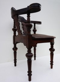 Antique Corner Chair in Carved Oak for sale at Pamono