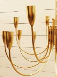 Brass Ceiling Lights, 1960s, Set of 2 for sale at Pamono