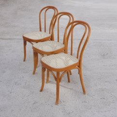 Gray Rattan Dining Chairs Little Tikes Classic Table And Set Vintage Bentwood Of 3 For Sale At Pamono Price Per