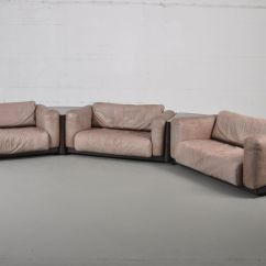 Modular Sofa Set Oasis Darrin Leather Vintage Bycini Boeri For Knoll Sale