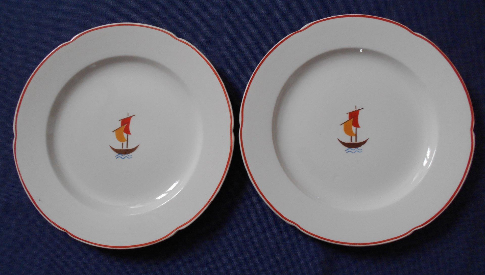 Keramik Set von Gio Ponti fr Richard Ginori 1936 4er
