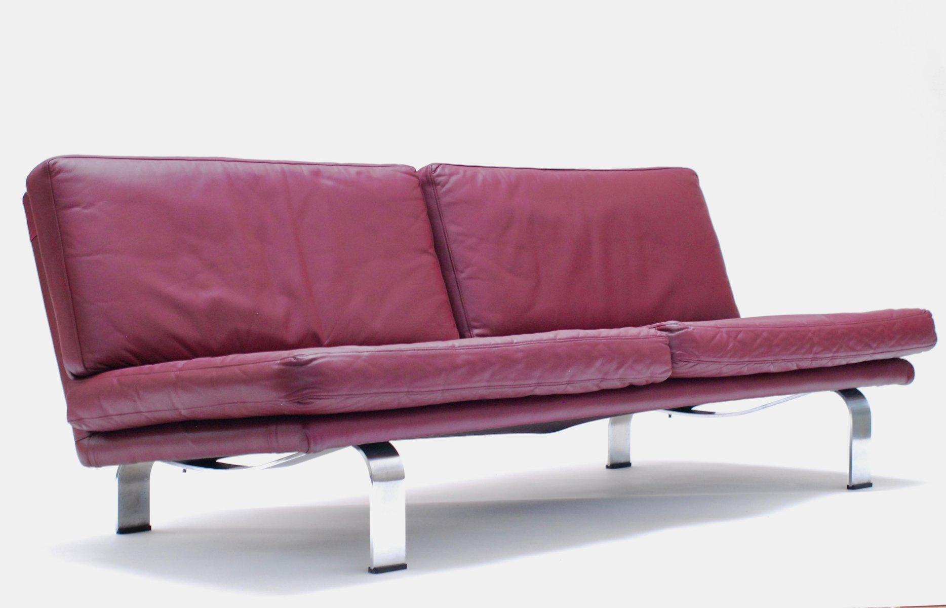 plum leather sofa lazy boy sleeper air mattress pump italian 1960s for sale at pamono