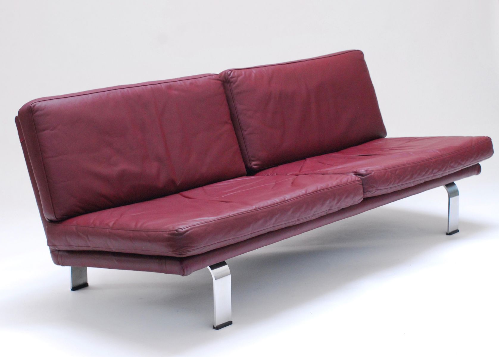 plum leather sofa all murphy beds with sofas italian 1960s for sale at pamono