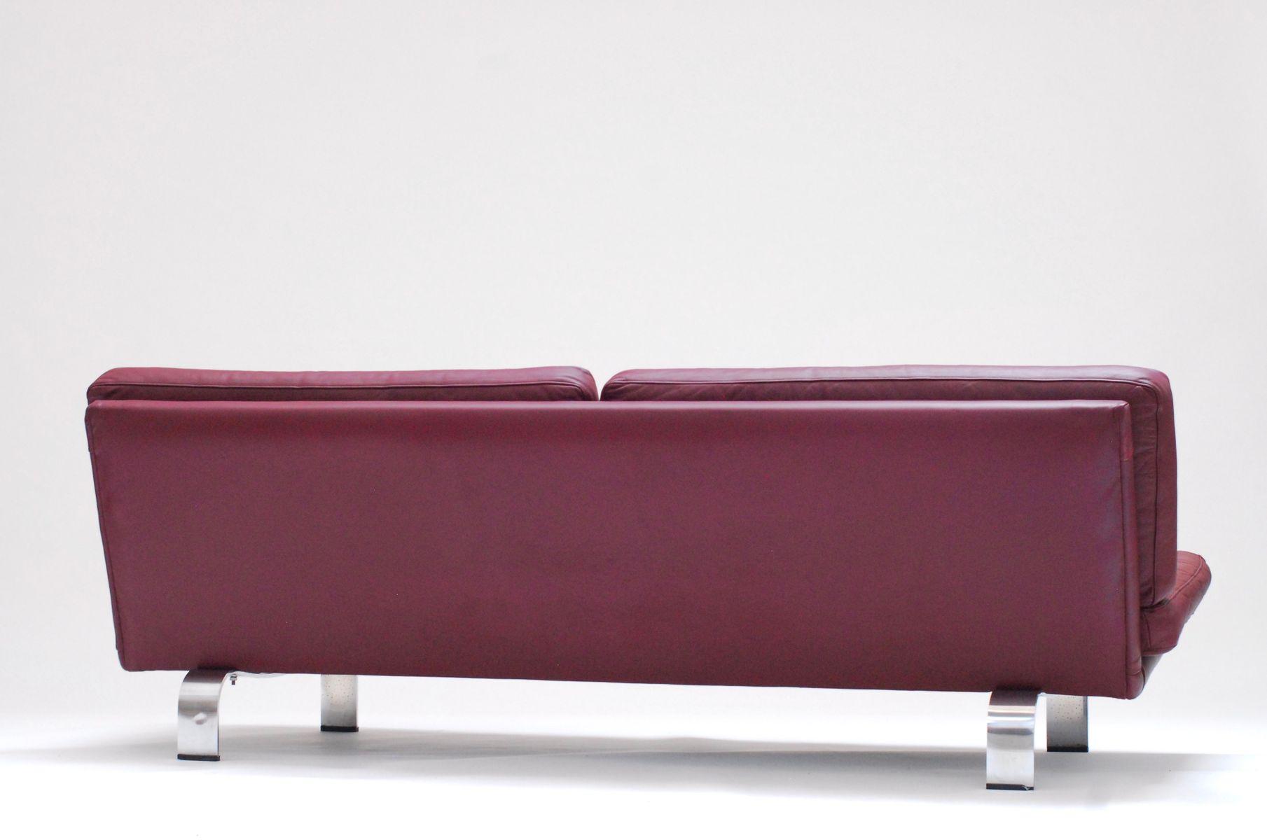 plum leather sofa upholstery loose covers italian 1960s bei pamono kaufen