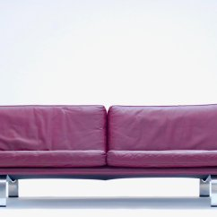Plum Leather Sofa Ashley Brown Bed Italian 1960s For Sale At Pamono