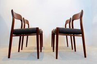Model 75 Dining Chairs by Niels Otto Mller for J.L