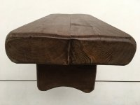 Rustic French Solid Oak Coffee Table for sale at Pamono