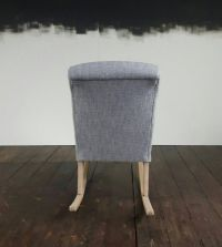 Mid-Century Upholstered Rocking Chair for sale at Pamono