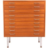 Vintage Flat File Cabinet by Hans J. Wegner for Johannes ...