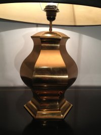 Rounded Brass Table Lamp, 1960s for sale at Pamono