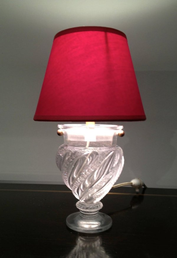 Small Glass Table Lamp 1940s Pamono