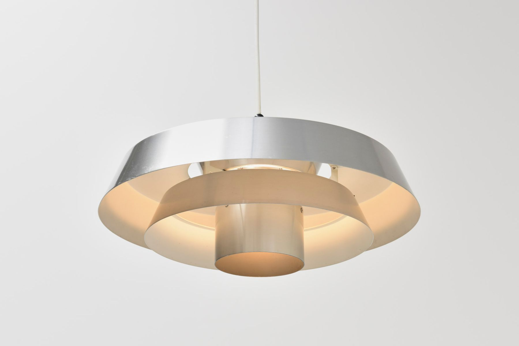 Vintage Nova Lamp in Aluminum by Jo Hammerborg for Fog