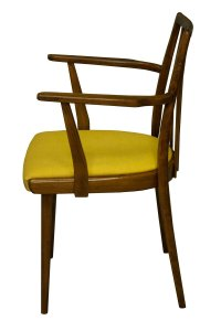 Mid-Century Dining Chair with Mustard Cushion by Jiri ...