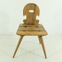 Antique Walnut Farmhouse Chair, 1850s for sale at Pamono