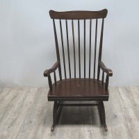 Mid-Century Scandinavian Wooden Rocking Chair for sale at ...