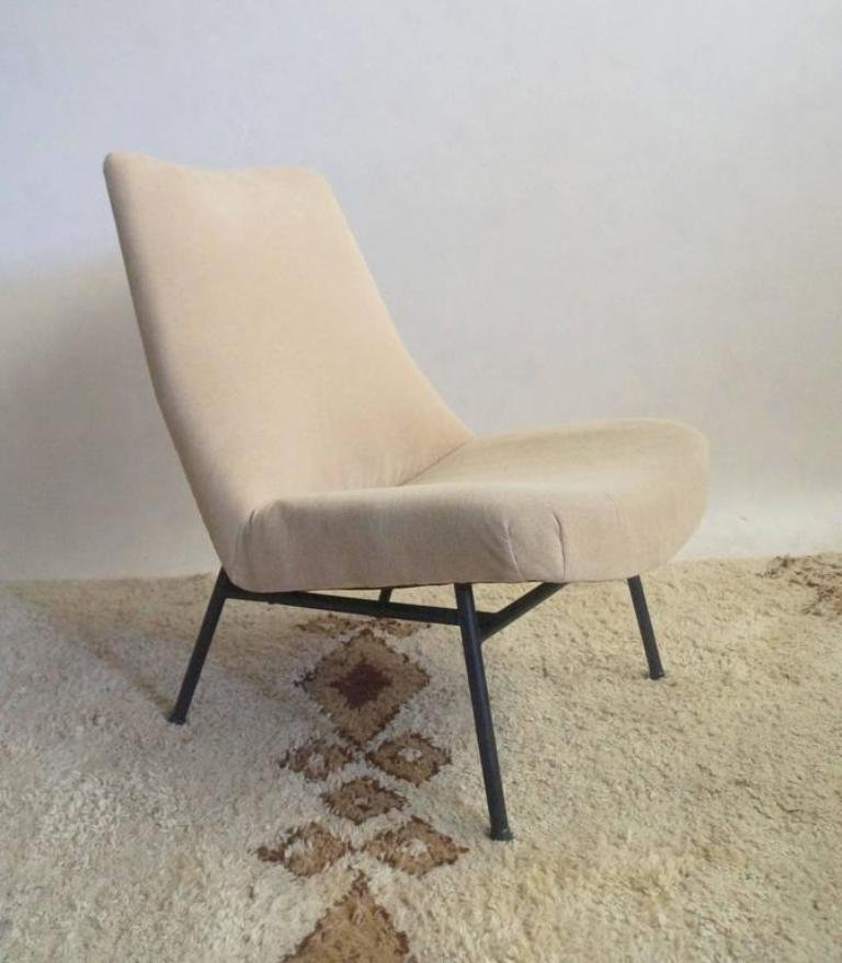 chair and matching stool silver covers uk mid century lounge chairs with by pierre guariche price per set
