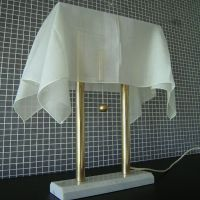 White VIntage Table Lamp by Kazuhide Takahama in Mable ...